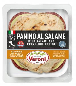 Panino al Salame (mild salami and provolone cheese)
