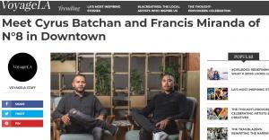 Cyrus Batchan, article in VoyageLA about restaurant endeavors