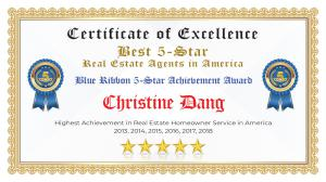 Christine Dang Certificate of Excellence Las Vegas NV