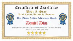 Daniel Diaz Certificate of Excellence Mission TX