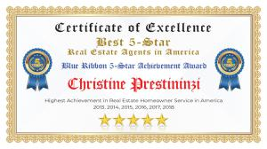 Christine Prestininzi Certificate of Excellence Port St Lucie FL