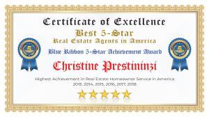 Christine Prestininzi Certificate of Excellence West Palm Beach FL