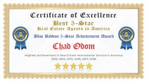 Chad Odom Certificate of Excellence Hurst TX