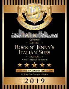 Rock n' Jenny's plaque 1