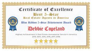 Debbie Copeland Certificate of Excellence Hudson Oaks TX