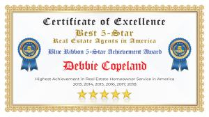 Debbie Copeland Certificate of Excellence White Settlement TX