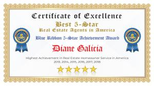 Diane Galicia Certificate of Excellence Fulshear TX