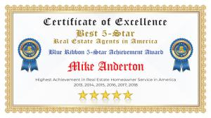 Mike Anderton Certificate of Excellence Livermore CA