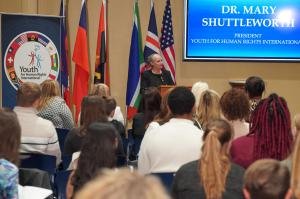 Dr. Mary Shuttleworth, Founder and President of Youth for Human Rights International speaks about her 16th World Educational Tour as well as the impacts of human trafficking globally.