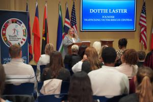 Dottie Laster, Founder of Trafficking Victims Rescue Central speaks on her experience protecting victims of human trafficking and the crucial need for human rights education in the United States.