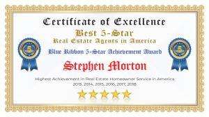 Stephen Morton Certificate of Excellence Canton TX