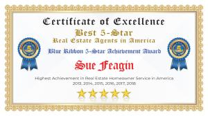 Sue Feagin Certificate of Excellence Canton GA