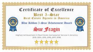 Sue Feagin Certificate of Excellence Marietta GA