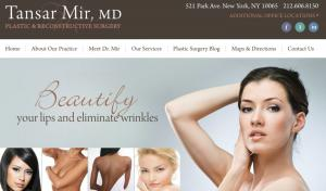 Website of Dr Tansar N Mir, New York