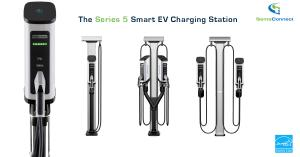 SemaConnect Series 5 charging stations are EnergyStar certified and feature optional cable management