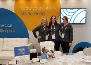 Team members from Pathway at the company's 2019 WVC booth