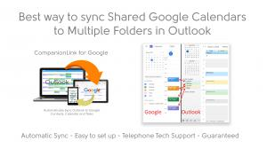 Best way to Sync Multiple Google Calendars to Outlook Subfolders