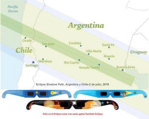 Utilizar Sun Safe total solar eclipse gafas Visors para ver el sol Argentina Julio 2019