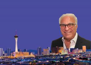 Jacob Hefetz with the skyline of Las Vegas, NV in the background.