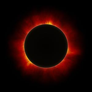 Image of the Sun during a total solar eclipse