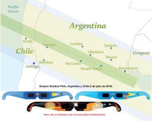 Camino del Eclipse solar en Argentina, 2 de julio de 2019
