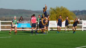 Picture of PAC Misfits contest a lineout on their tour to England & Wales with Irish Rugby Tours
