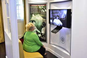 Community members toured the interactive exhibit portraying dangers of electric shock treatments