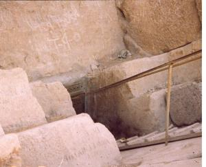 Original entrance to Great Pyramid that was concealed