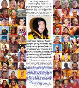 Sự chứng nhận chánh thức hợp pháp của Phật Đà