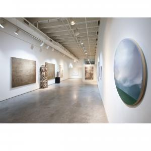 Exhibition image of work by Emily Morgan Brown, Mckenzie Dove, and Marina Dunbar.