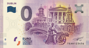 0 Euro Banknote with Dublin motif