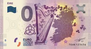 """0 Euro Banknote """"Eire"""""""
