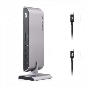 Dual Input USB C Universal Docking Station for Mac & Windows with 80W Power Delivery