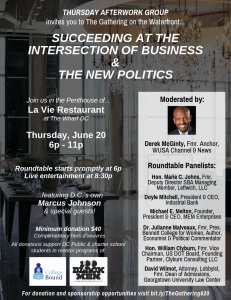 Flyer for The Gathering on the Waterfront June 20 2019 at La Vie in Washington DC