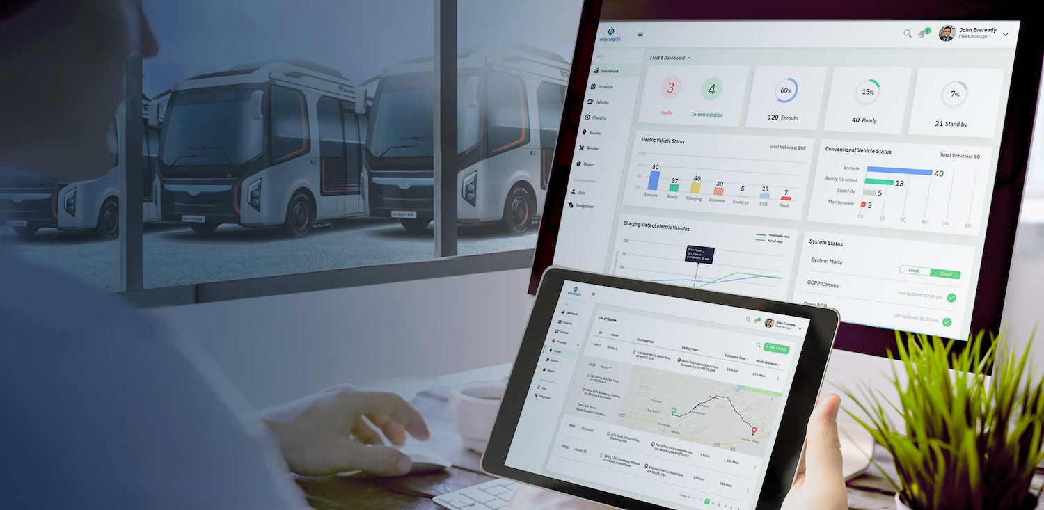 Electriphi's fleet and energy management software