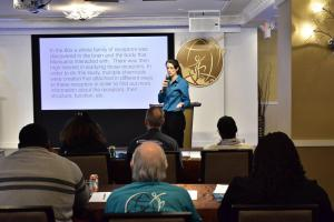 """""""Education is critical to help save our youth,"""" said Thalia Ghiglia, DC advocacy director of the Drug-Free World program."""