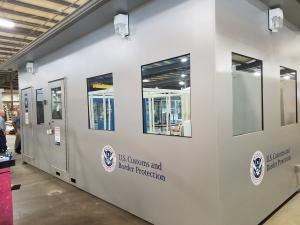 Border Security Booth completed modular, prefabricated in factory