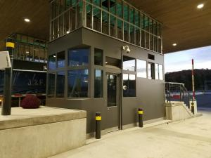 Security Booth being installed at the US/Canada Border