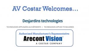 Arecont Vision Costar AV Costar Desjardins Manufacturer's Rep