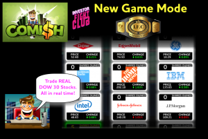 Stock market simulator game adds new game mode with real stocks