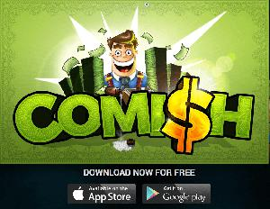 Comish is free for download on Apple App Store and Google Play