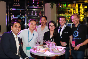 Attendees enjoyed a fitting conclusion to day 1 of Asia Blockchain Summit