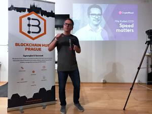 Filip Korbel speaking at a conference