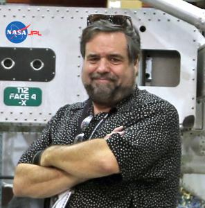 Author and journalist Rod Pyle at NASA/JPL. Credit: Rod Pyle