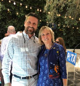 Reichen Kuhl Attends Birthday Party for Ingrid Newkirk in Venice, CA