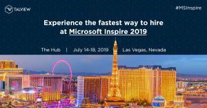 Talview Microsoft Inspire 2019