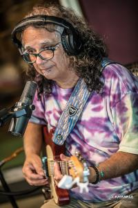 Bobby Messano with guitar by Jim Mimna