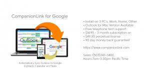 Product information for CompanionLink for Google