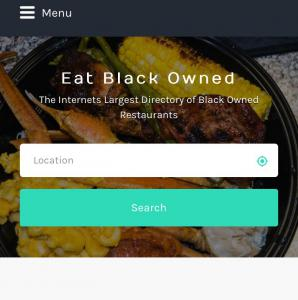 Homepage for Eat Black Owned Food