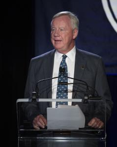 Stuart Janney, chairman of The Jockey Club pictured speaking at The Jockey Club's Round Table